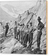 Hiking Up Mt. Rainier Wood Print