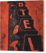 Hilander Motel Lll Wood Print