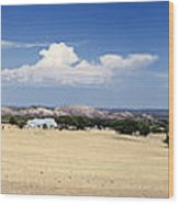 Hill Country And Enchanted Rock Panorama Wood Print
