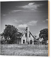 Hill Country Homestead Wood Print