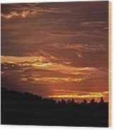 Hill Country Sunrise Wood Print