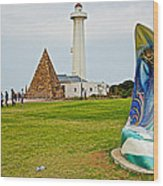 Hill Lighthouse Built In 1861 And Donkin Memorial Pyramid Honoring The Wife Of Sir Rufus Donkin-sout Wood Print