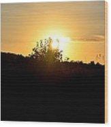 Hill Top Sunrise 2013 Wood Print