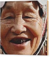 Hill Tribe Smile Wood Print