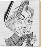 Hillary Clinton Debate Wood Print by Tom Bachtell