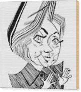 Hillary Clinton Debate Wood Print