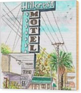 Hillcrest Motel In Route 66 - Andy Devine Ave In Kingman - Arizona Wood Print