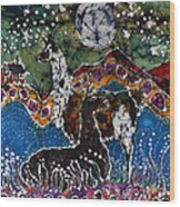 Hills Alive With Llamas Wood Print