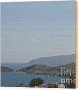 Hills Greece Wood Print