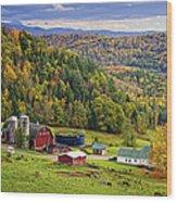 Hillside Acres Farm Wood Print