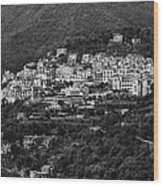 Hillside Amalfi Coast Wood Print