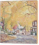 Hillside Avenue Staten Island Wood Print