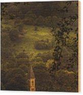 Hillside Sanctuary Wood Print