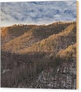 Hillside Sunset Wood Print
