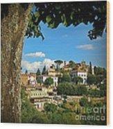 Hillside Tuscan Village  Wood Print
