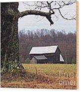 Hilltop Homestead Wood Print