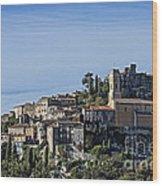Hilltop Town Of Eza Wood Print