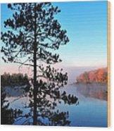 Hilltop View Of Stoneledge Lake Wood Print by Terri Gostola