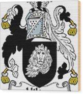 Hilton Coat Of Arms Irish Wood Print