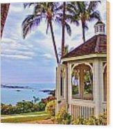 Hilton Waikoloa Gazebo Wood Print