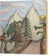 Himalaya Dharamkot Path Wood Print