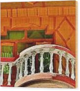 A Beautiful Balcony - Himalaya India Wood Print