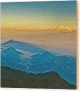 Himalayan Mountains View From Mt. Shivapuri Wood Print