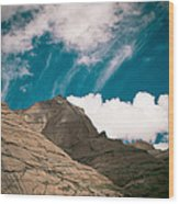 Himalyas Mountains In Tibet With Clouds Wood Print by Raimond Klavins