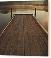 Hinckley Lake Sunrise Wood Print