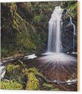 Hindhope Waterfall Wood Print