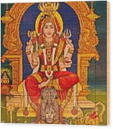 Hindu God Wood Print