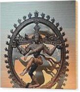 Hindu Statue Of Shiva In Nataraja Dance Pose Wood Print