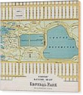 Hinrichs Guide To Central Park 1875 Wood Print