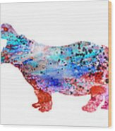 Hippo 3 Wood Print