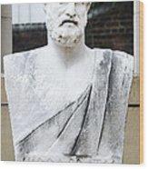 Hippocrates Statue - Vcu Campus Wood Print