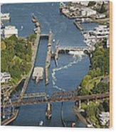 Hiram M. Chittenden  Ballard Locks Wood Print