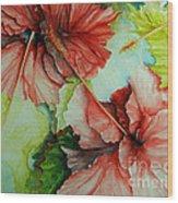 Hiroko's Hibiscus Wood Print
