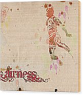His Airness - Michael Jordan Wood Print by Paulette B Wright