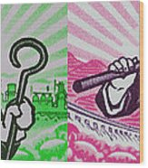 His And Hers Cultural Revolution Wood Print