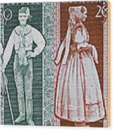 His And Hers Traditional Costumes Wood Print