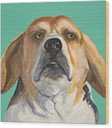 His Beagleness Wood Print