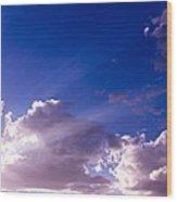 His Glory Wood Print