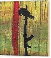His Senseless Trial Of Strength Wood Print