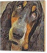 His Soft Sad Look Wood Print