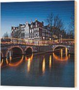 Historic Amsterdam Wood Print