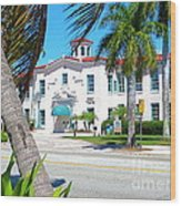Historic And Beautiful Crest Theatre In Delray Beach. Florida. Wood Print