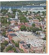 Historic Annapolis Maryland Wood Print