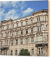Historic Apartment House In Budapest Wood Print