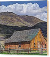 Historic Barn - Wasatch Front Wood Print