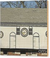 Historic Barn With Hex Signs In Pennsylvania Wood Print by Anna Lisa Yoder